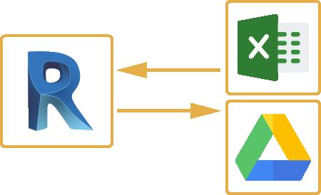 Revit to Excel and Google Sheets SheetLink
